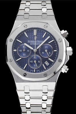 Audemars Piguet Royal Oak Chronograph Blue Dial Stainless Steel Bracelet 1454028 Piguet Replica