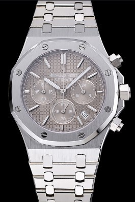 Audemars Piguet Royal Oak Chronograph Grey Dial Stainless Steel Bracelet 1454027 Piguet Replica