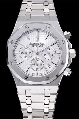 Audemars Piguet Royal Oak Chronograph White Dial Stainless Steel Bracelet 1454024 Piguet Replica