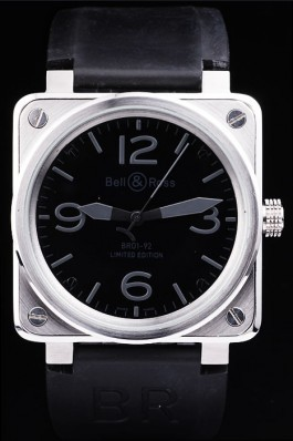 Black Rubber Band Top Quality Ross Brushed Steel Black-Grey Luxury Watch 4199 Bell Ross Replica For Sale