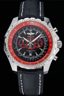 Breilting Bentley Supersports Black And Red Dial Black Leather Bracelet 622430 Fake Breitling Bentley