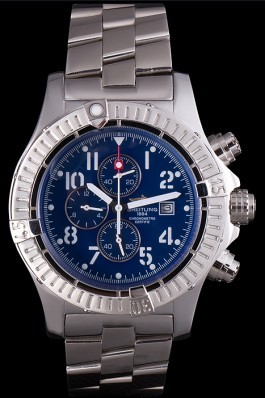 Silver Stainless Steel Band Top Quality Luxury Avenger Stainless Steel Watch 4037 Breitling Replicas