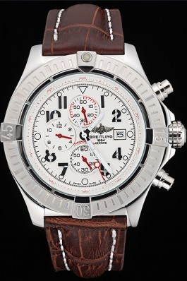 Brown Leather Band Top Quality Breitling Stainless Steel Brown Luxury Watch 4045 Breitling Replicas