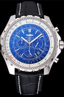 Black Leather Band Top Quality Breitling Stainless Steel Black Luxury Watch 4039 Fake Breitling Bentley