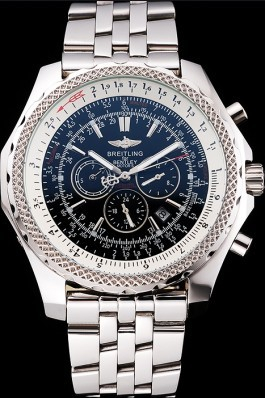 Stainless Steel Band Top Quality Breitling Steel Luxury Kinetic Watch 4154 Fake Breitling Bentley