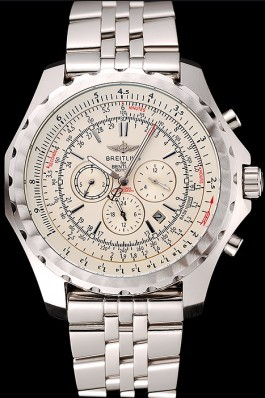 Silver Stainless Steel Band Top Quality Luxury Stainless Steel Kinetic Watch 4155 Fake Breitling Bentley