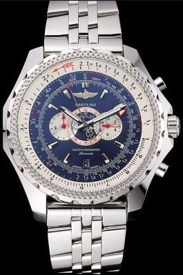 Breitling Bentley Supersports Blue Dial Stainless Steel Case And Bracelet 622221 Fake Breitling Bentley