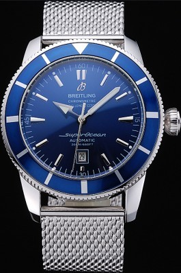 Breitling Certifie SuperOcean Blue Dial Blue Watch Fake Breitling