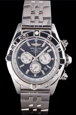 Silver Stainless Steel Band Top Quality Stainless Breitling Silver Luxury Watch 4040 Breitling Chronomat