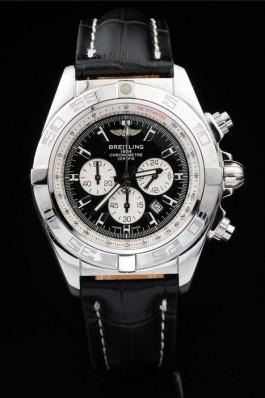 Black Leather Band Top Quality Black Chronomat Luxury Stainless Steel Watch 4051 Breitling Chronomat