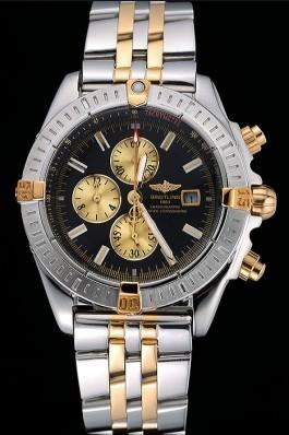 Breitling Chronomat Black Dial Stainless Steel And Gold Bracelet 622429 Breitling Chronomat