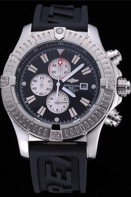 Breitling Chronomat Evolution Black Dial Black Rubber Bracelet 622516 Breitling Chronomat