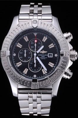 Breitling Chronomat Evolution Black Dial Stainless Steel Bracelet 622515 Breitling Chronomat