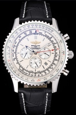 Black Leather Band Top Quality Luxury Breitling Navitimer Steel Watch 4106 Replica Designer Watches