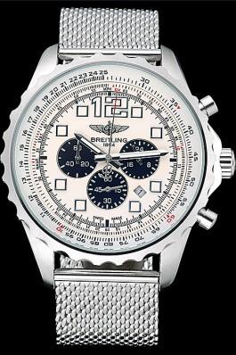 Breitling Navitimer Stainless Steel Strap Beige Dial Replica Designer Watches