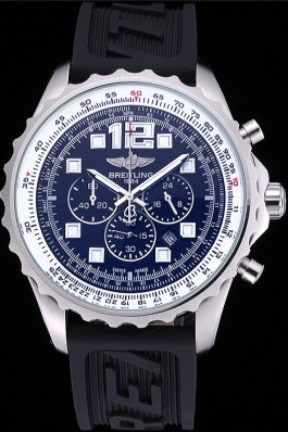 Breitling Professional Chronospace Black Dial Rubber Bracelet 622504 Replica Designer Watches