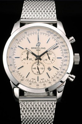 Breitling Transocean Stainless Steel Case Light Yellow Dial Breitling Replica