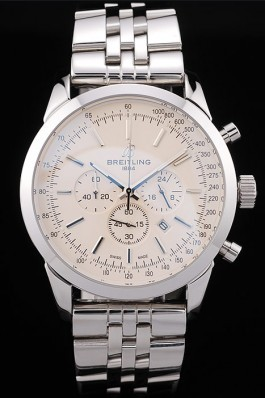 Breitling Transocean White Dial Stainless Steel Strap Breitling Replica