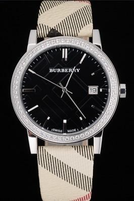 Replica Burberry The City Classic Black Dial  Haymarket  Bracelet  622568