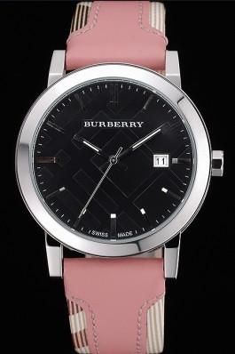 Replica Burberry The City Classic Black Dial Pink Bracelet  622561