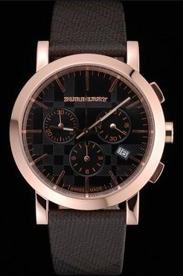 Replica Burberry The City Classic Chronograph Black Dial Smoked Trench Bracelet  622573