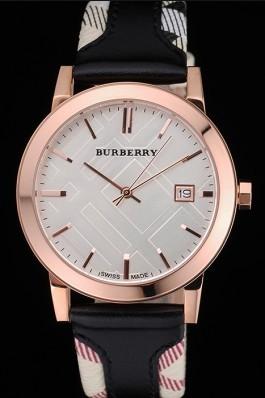 Replica Burberry The City Classic Silver Dial Black Bracelet  622565