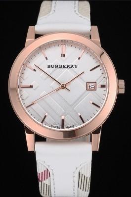 Replica Burberry The City Classic Silver Dial White Bracelet  622563