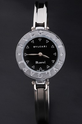 Stainless Steel Band Top Quality Stainless Black Circular Dial Bvlgari Luxury Watch 4322 Bvlgari Replica Watch