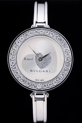 Bvlgari B.ZERO1 30mm Two Tone Dial With Model Steel Case With Diamonds Steel Bracelet Bvlgari Replica Watch