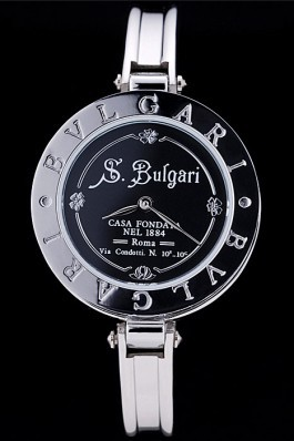 Bvlgari B.ZERO1 30mm Black Engraved Dial Steel Case Black Bezel Steel Bracelet Bvlgari Replica Watch