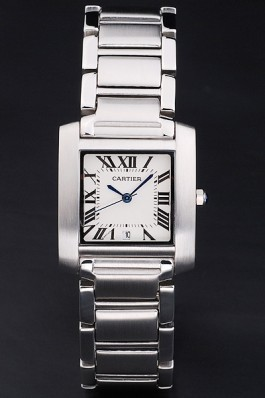 Cartier Tank Francaise 29mm White Dial Stainless Steel Case And Bracelet Cartier Replica