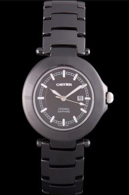 Cartier Pasha 34mm Black Dial Black Ceramic Case Cartier Replica