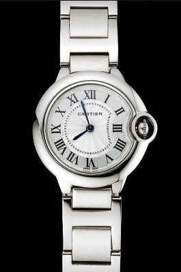 Cartier Ballon Bleu 30mm White Dial Stainless Steel Case And Bracelet Cartier Replica
