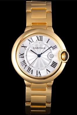 Cartier Ballon Bleu 42mm White Dial Gold Case And Bracelet Cartier Replica