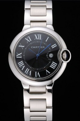 Cartier Ballon Bleu 42mm Black Dial Stainless Steel Case And Bracelet Cartier Replica