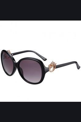 Replica Cartier Panthere Decor Jewelry Black Sunglasses 307781