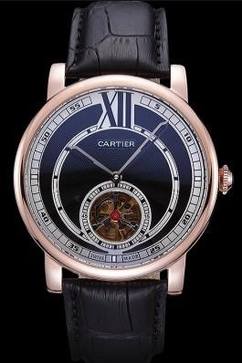 Cartier Rotonde Flying Tourbillon Black Dial 621937 Cartier Replica