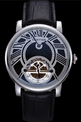 Cartier Rotonde Flying Tourbillon Black Dial 621941 Cartier Replica