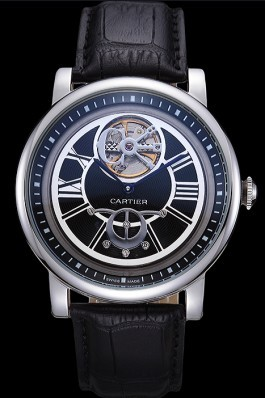 Cartier Rotonde Flying Tourbillon Black Dial 621946 Cartier Replica