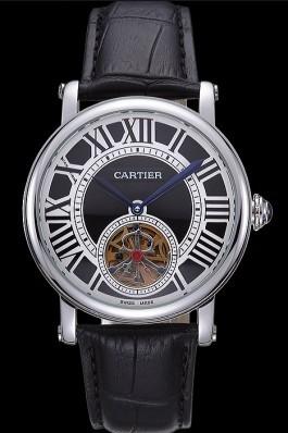 Cartier Rotonde Flying Tourbillon Black Dial 621955 Cartier Replica