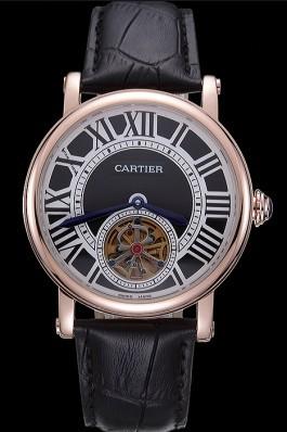 Cartier Rotonde Flying Tourbillon Black Dial 621957 Cartier Replica