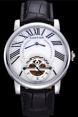 Cartier Rotonde Flying Tourbillon White Dial 621939 Cartier Replica