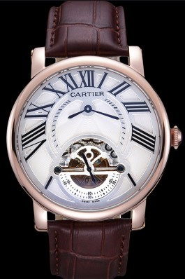 Cartier Rotonde Flying Tourbillon White Dial 621940 Cartier Replica