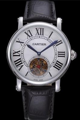 Cartier Rotonde Flying Tourbillon White Dial 621956 Cartier Replica