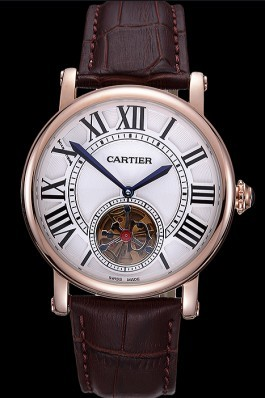 Cartier Rotonde Flying Tourbillon White Dial 621958 Cartier Replica