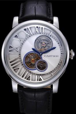 Cartier Rotonde Reversed Tourbillon White Dial 621948 Cartier Replica