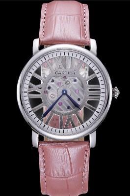 Cartier Rotonde Skeleton Flying Tourbillon Light Pink 621970 Cartier Replica