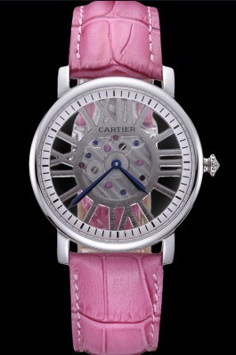 Cartier Rotonde Skeleton Flying Tourbillon Pink 621973 Cartier Replica