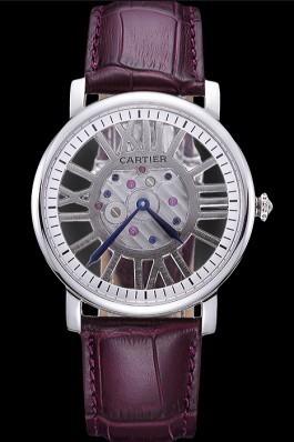 Cartier Rotonde Skeleton Flying Tourbillon Purple 621971 Cartier Replica