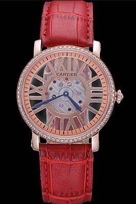 Cartier Rotonde Skeleton Flying Tourbillon Red 621962 Cartier Replica